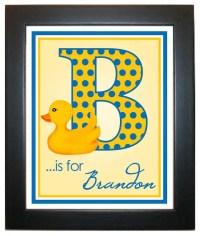Rubber Ducky Wall Print 8 x 10 Wall Art Rubber Ducky Duck