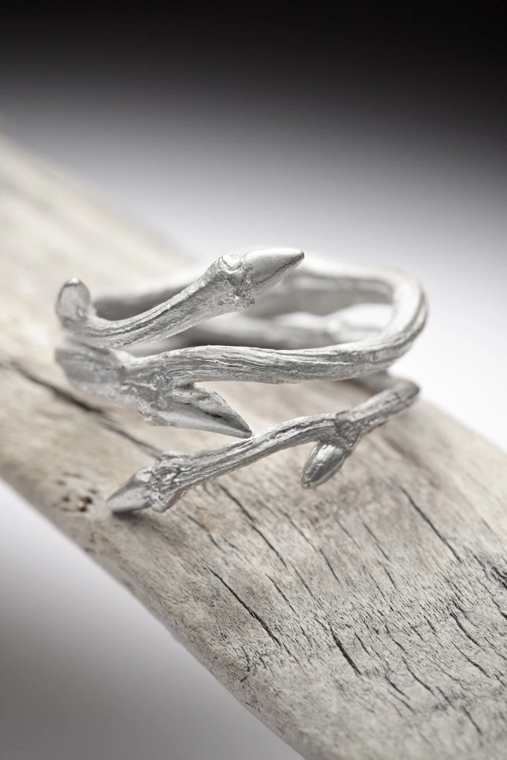 twig stacking ring branch wedding ring Elvish Twine sterling silver twig ring stacking ring RedSofa jewelry