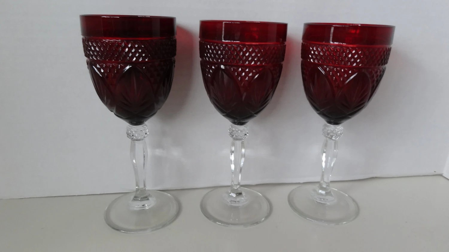 Goblet Style Wine Glasses Bohemian Style Water Wine Glass Goblets Vintage By