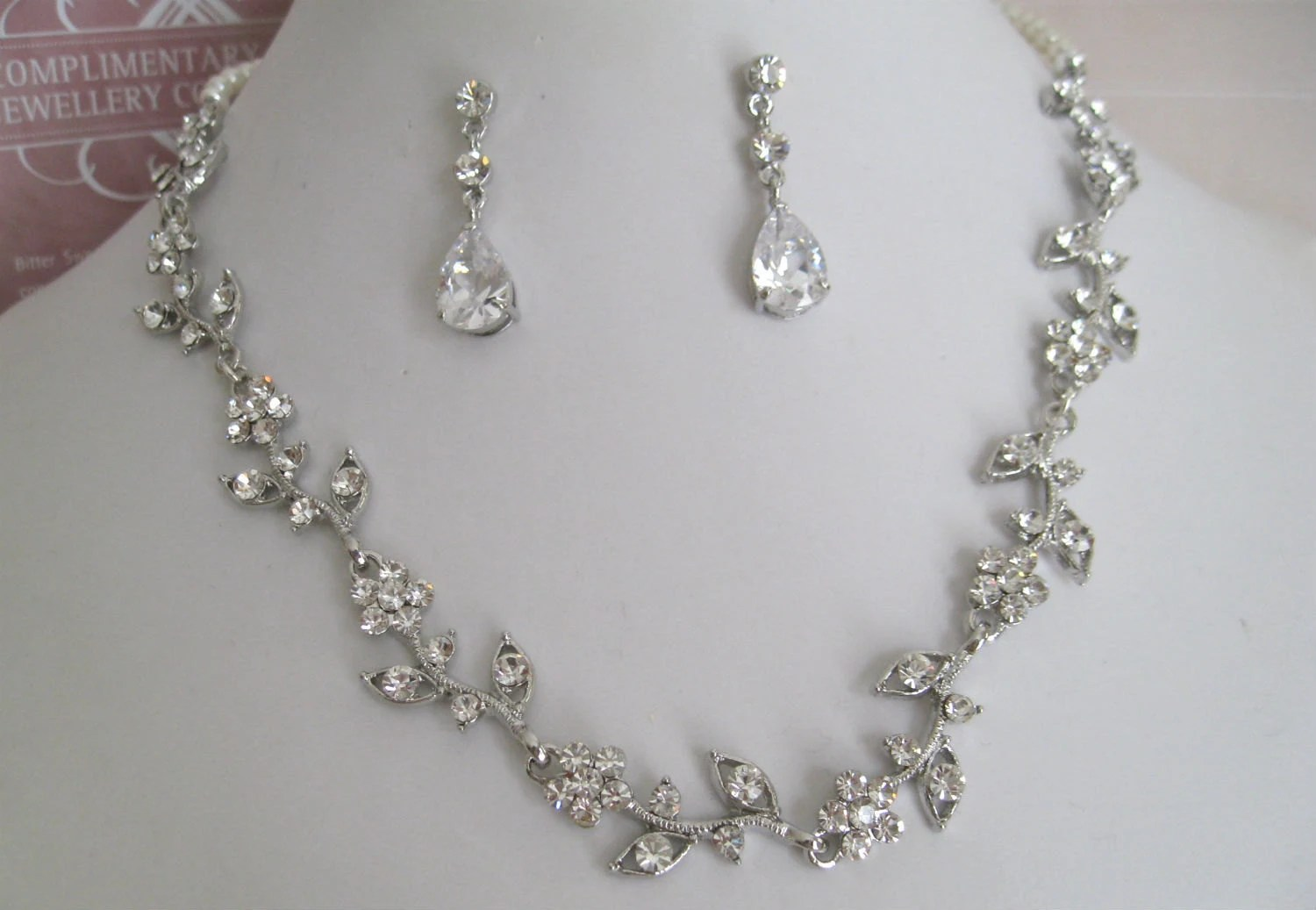 bridal jewelry bride necklace bridesmaid wedding jewelry zoom