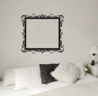 Floral Picture Frame Wall Decal