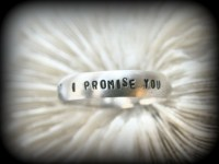 I Promise You I will Always LOVE You Personalized Ring