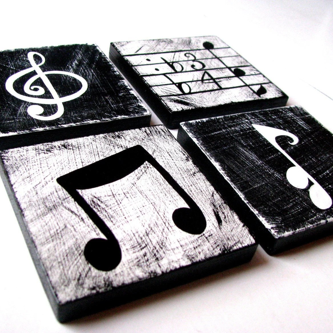 Music Themed Artwork Music Inspired Black And White Wall Art By Whimsicalartblocks