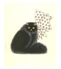 Black Cat Wall Art Persian cat art Persian Art 4 for 3
