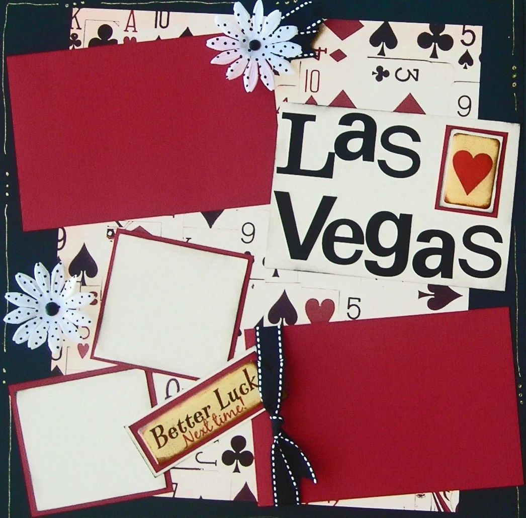 las vegas vacation premade scrapbook pages 12x12 zoom