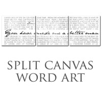 Typography Multiple Wall Split Canvas of ONE Word Art image