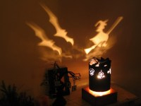 Spinning Lamp Shade Halloween by TCWitchcraftFactory on Etsy