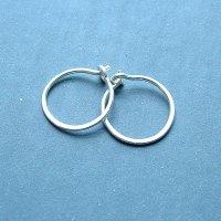 Small Sterling Silver Hoop Earrings Handmade Silver Hoops