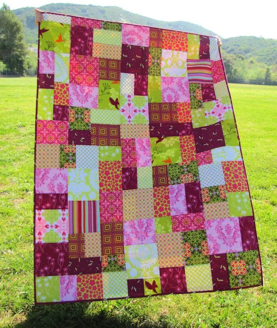Photo Patchwork 50x70 Patchwork Quilt In Random Pattern Custom Order You