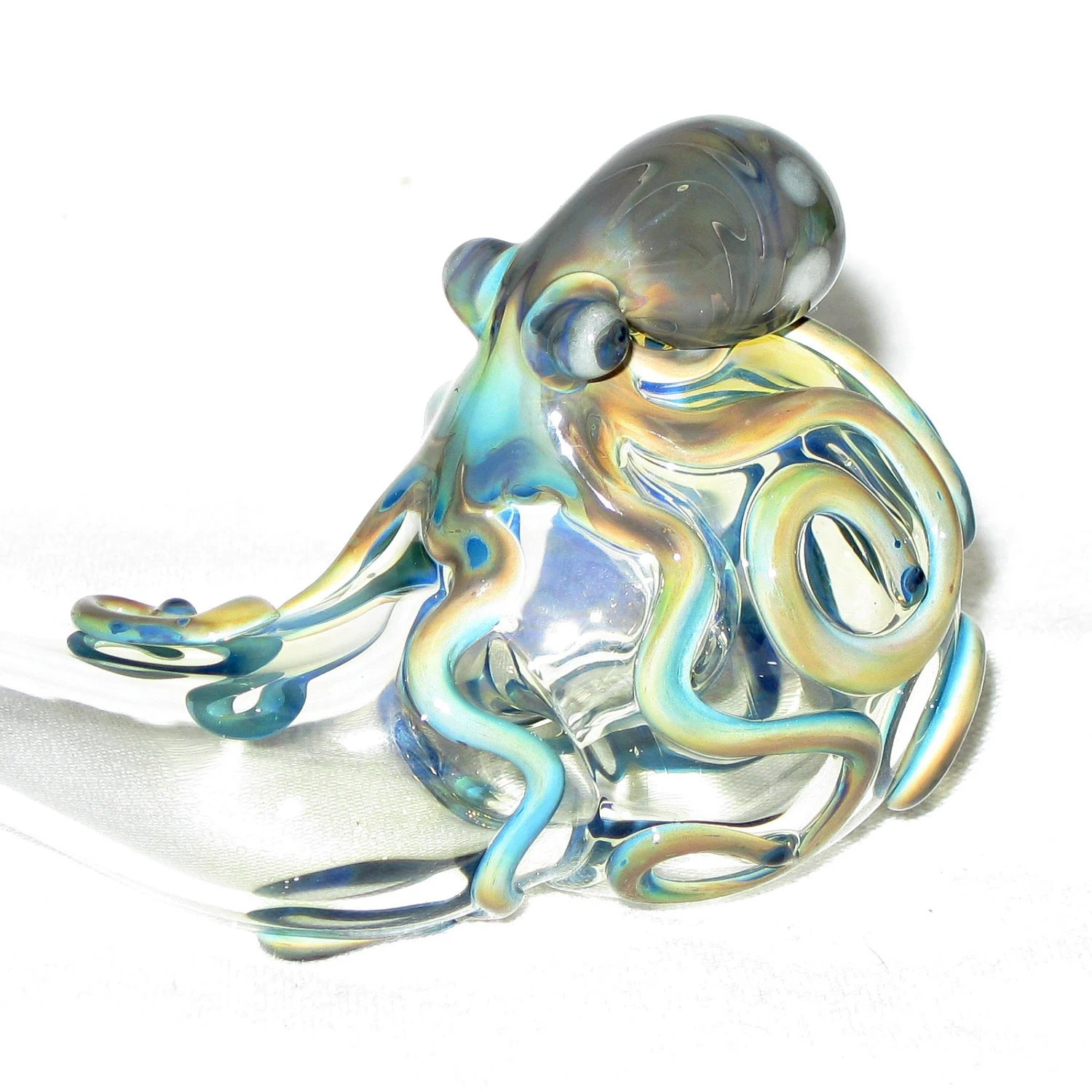 Octopus Glasses Octopus Sherlock Fumed Color Changing Hand Blown Glass