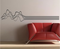 70x15 Wavy lines Music Vinyl Decor Wall by willowcreeksigns