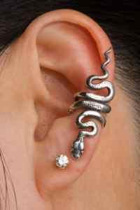 Snake Ear Cuff Snake Ear Wrap Silver Snake Earring Snake