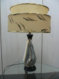 vintage mid century modern table lamp 1950s atomic lamp