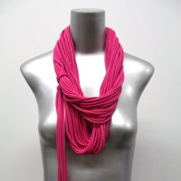 Scarves Womens Neon PInk Scarf Hot Pink Infinity Scarf