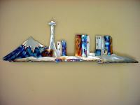 Seattle Space Needle Stainless Steel Metal Wall Art Downtown