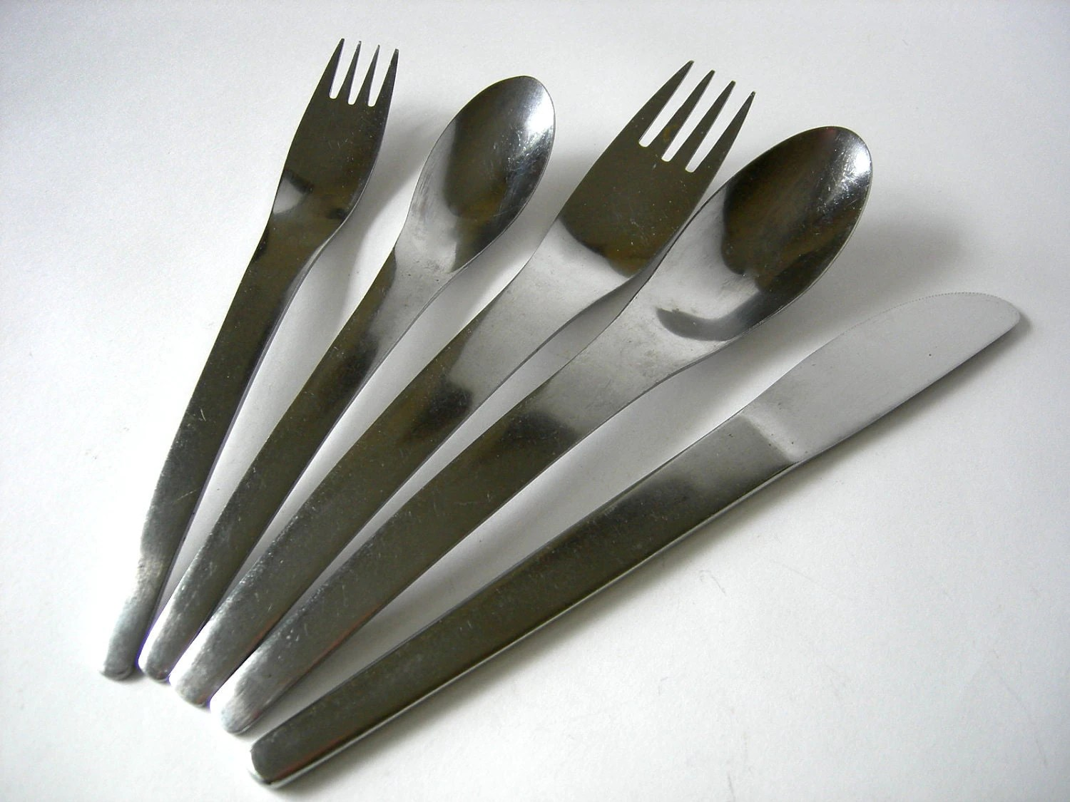 Contemporary Stainless Steel Flatware Mid Century Modern Stainless Flatware By Vivron