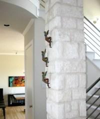 Rock Climbing Sculpture Set of 2 Figures Wall Art Rock