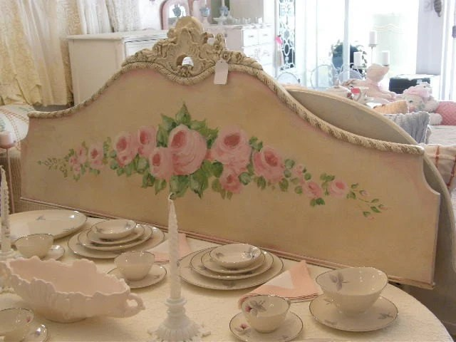Patchwork Sofa Shabby Chic Roses Antique Full Headboard Wall Hanging Art