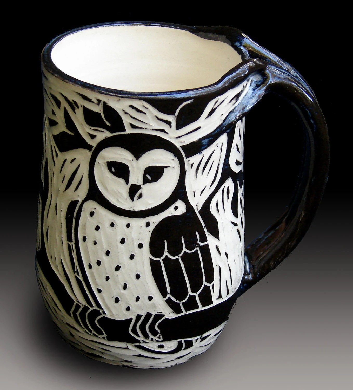 Owl Ceramic Mug Owl Mug By Rhoneypots On Etsy