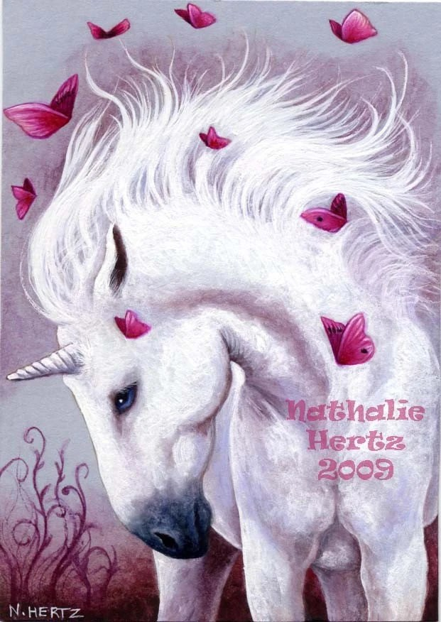 Fall Horse Wallpaper Items Similar To Aceo Limited Edition Print Unicorn Horse