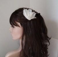 Bridal Feather Hair Piece Modern Wedding Hair by WeeGardens
