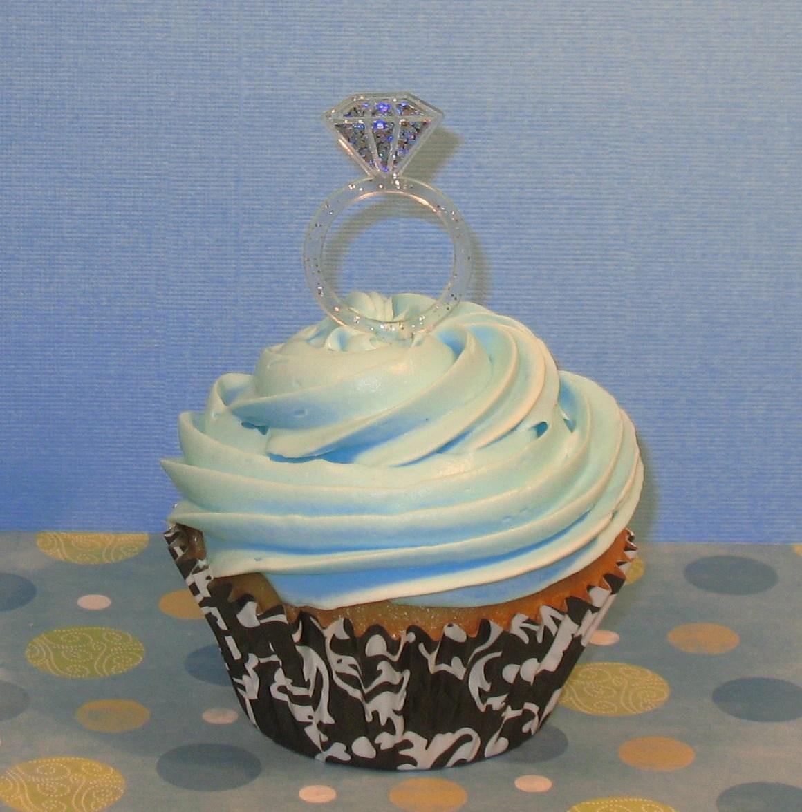 diamond ring cupcake pick 12 wedding ring cake topper Diamond Ring Cupcake Pick 12 zoom