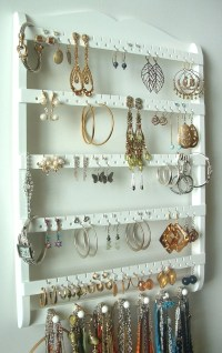 Earring Holder Necklace Organizer Cabinet Grade Semi-Gloss