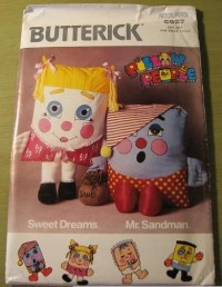 Butterick 5927 Pillow People Vintage Sewing Pattern
