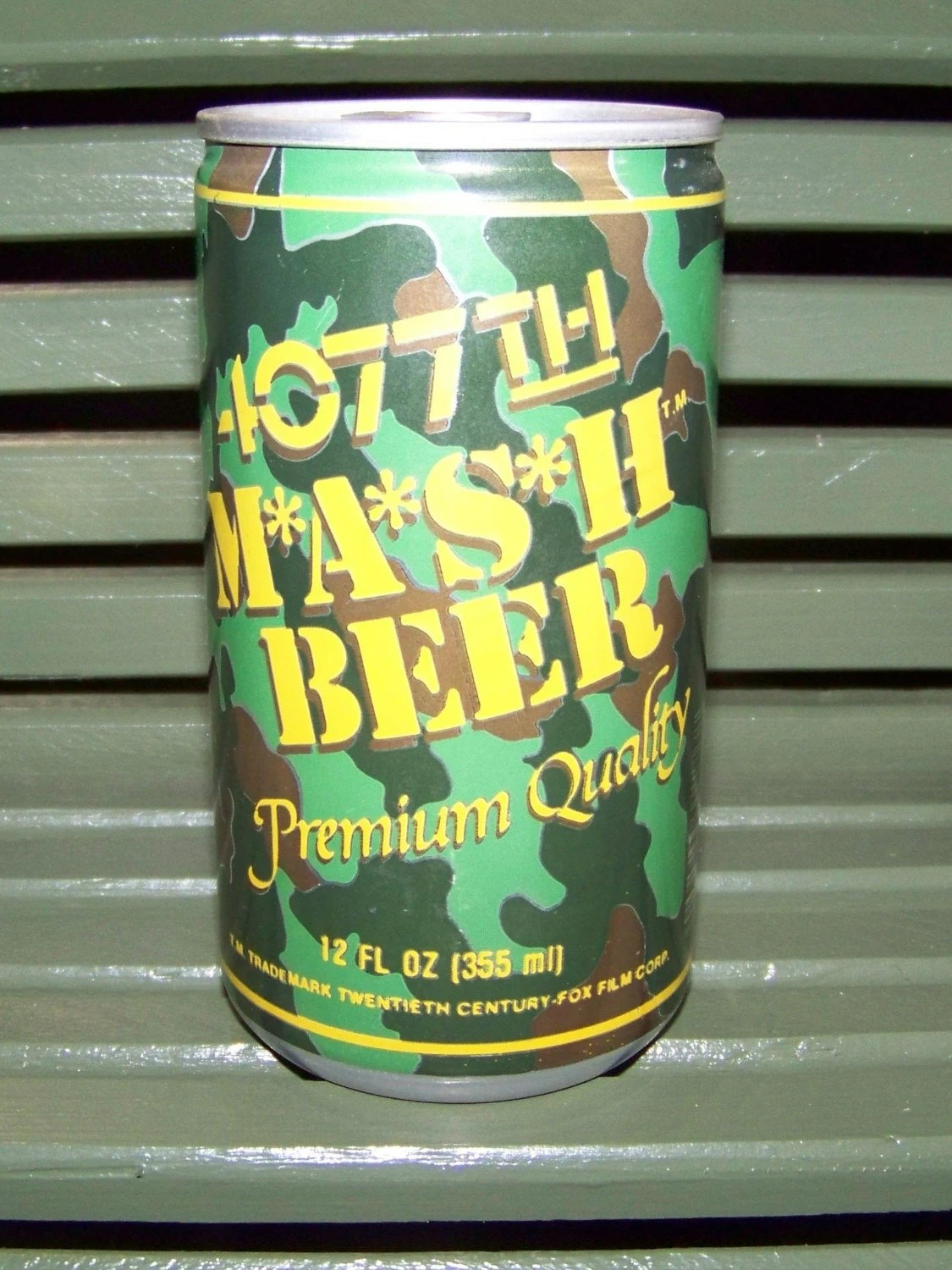 Bank Shabby Chic 4077th Mash Beer Souvenir Beer Can