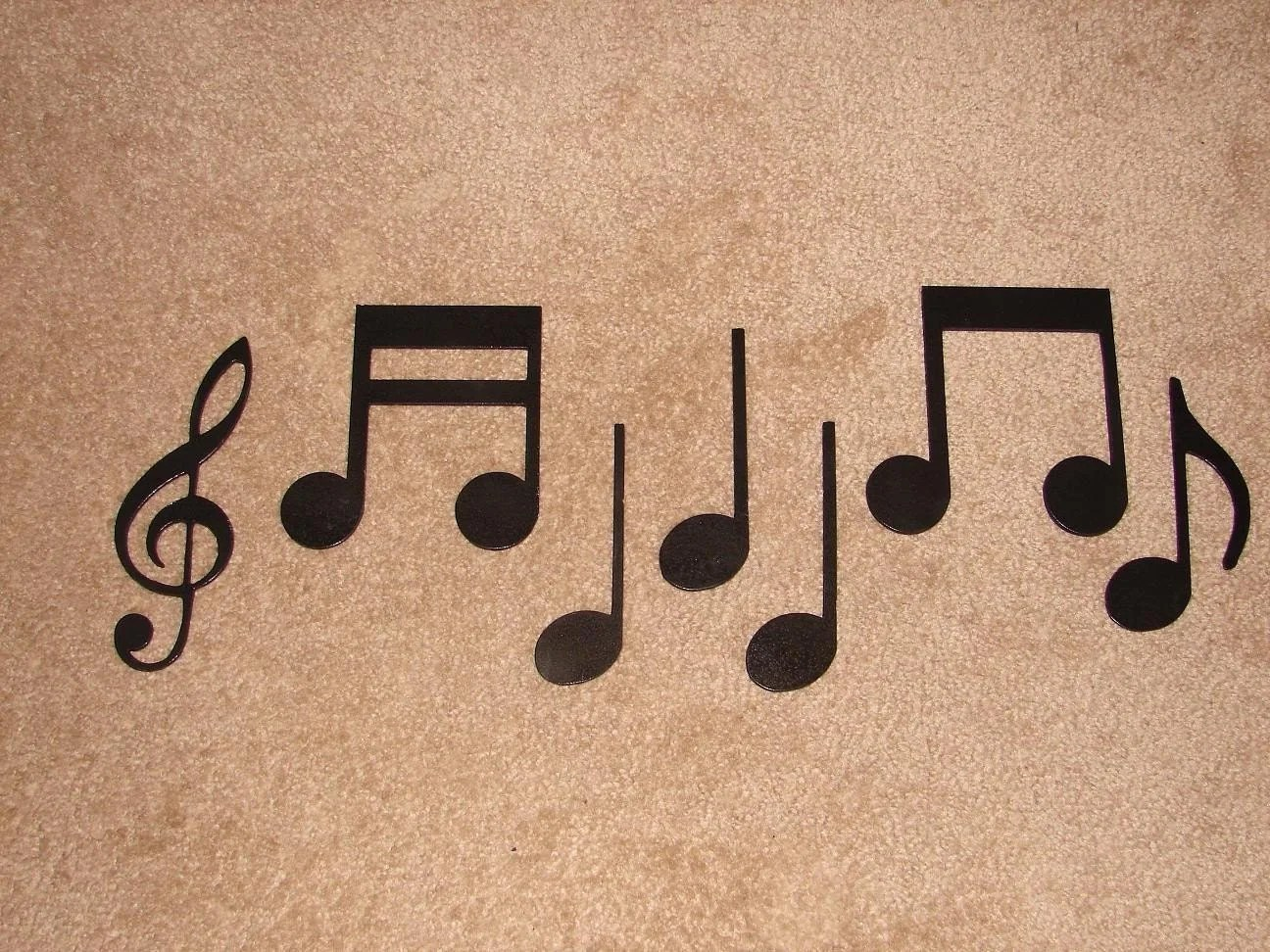 Metal Music Wall Art Metal Wall Art Decor Music Notes Musical Note