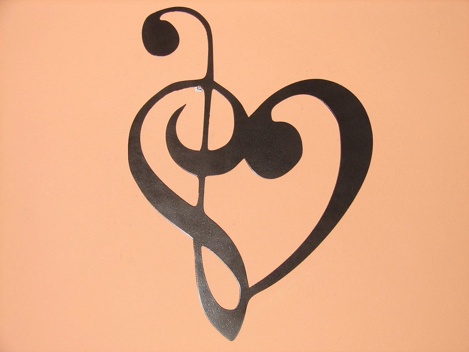 Music Notes Metal Wall Art Metal Wall Art Music Heart Notes Musical Treble Clef