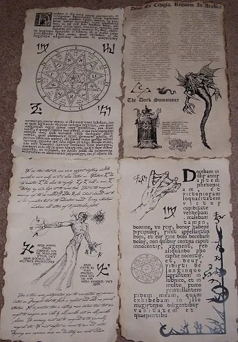 picture regarding Printable Necronomicon Pages known as Necronomicon Spells - Resume Illustrations Resume Template