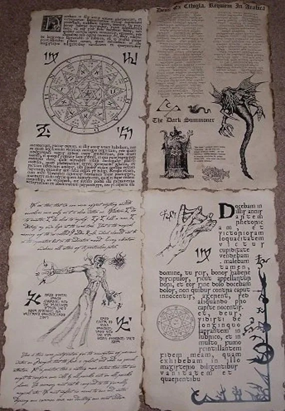photo about Printable Necronomicon Pages known as Necronomicon Spells - Resume Illustrations Resume Template