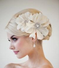 Bridal Headpiece Bridal Flower Fascinator Wedding Silk
