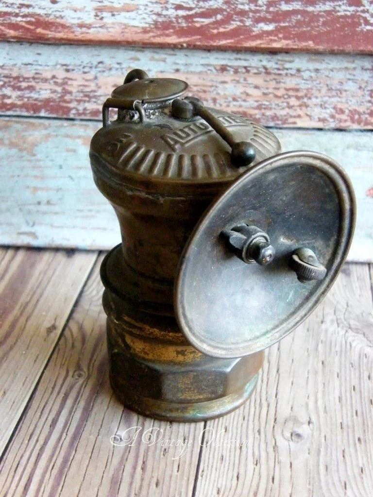 Mantel Height 1890s Coal Miners Head Lamp By By Avintageobsession On Etsy