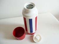 Thermos Vintage Thermo Serv West Bend Retro Red White