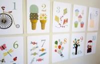 Number Nursery Art Print Kids Wall Art Flash Cards by ...