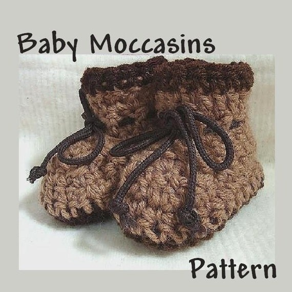 Baby Newborn Booties Crochet Pattern No 35 Baby Moccasin Style Booties
