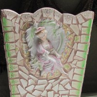 Decorative Mosaic Waste Paper Basket by NellsBelles on Etsy