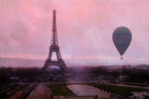 Create Your Own Quote Wallpaper Free Paris Photography Pink Eiffel Tower With Balloon Paris Pink