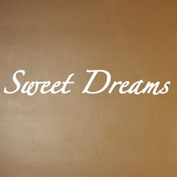 Items Similar To Sweet Dreams Vinyl Wall Decal On Etsy