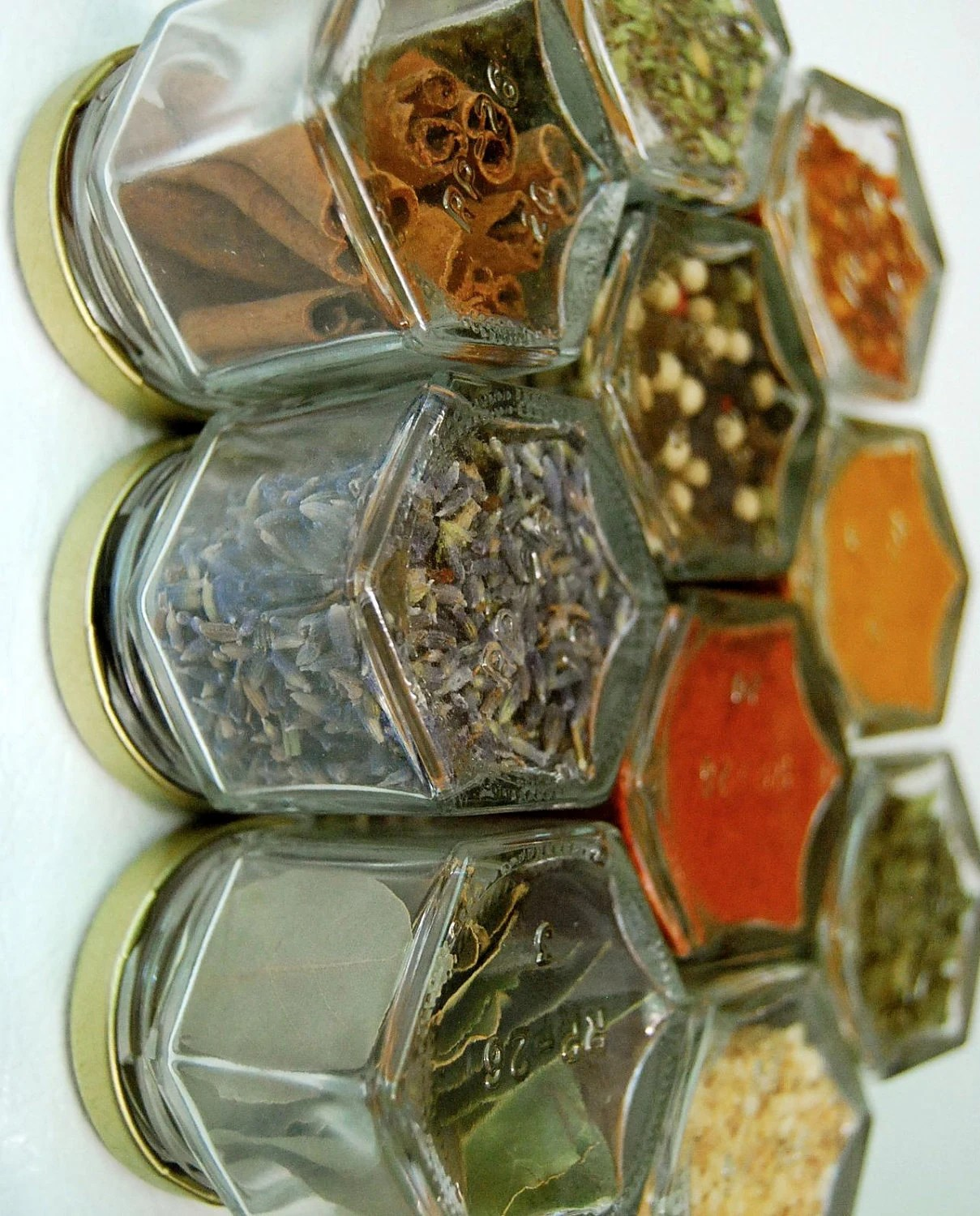 Custom Magnetic Spice Rack Includes 10 Empty By Gneissspice