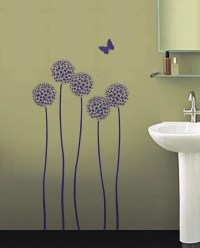 REUSABLE WALL STENCIL Allium Twins Sturdy by ...