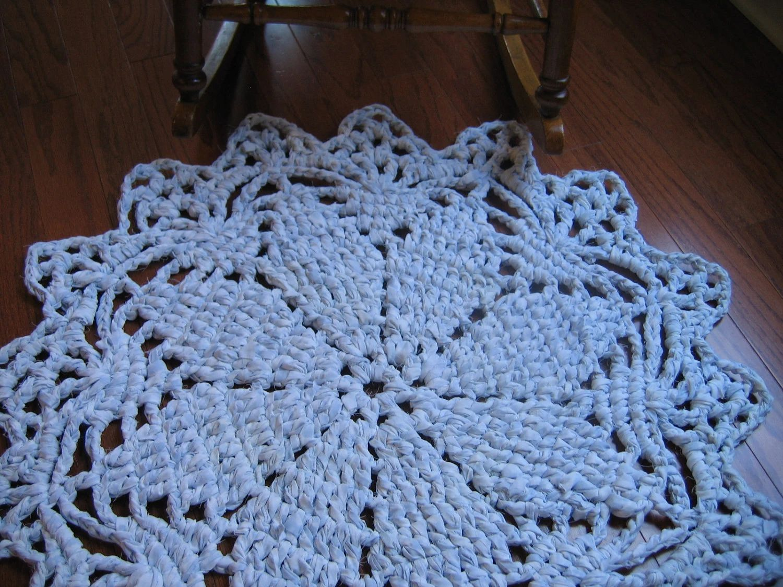Rag crochet doily rug pattern by raggedyanns on etsy