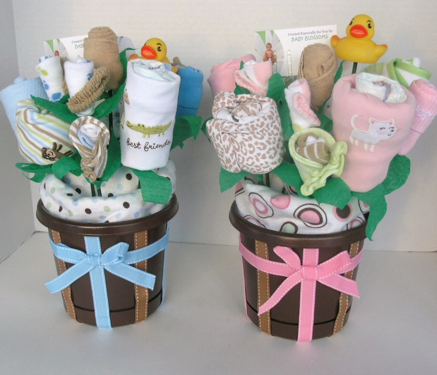 Geschenke Babyparty Twin Baby Gift Bouquets Made To Order