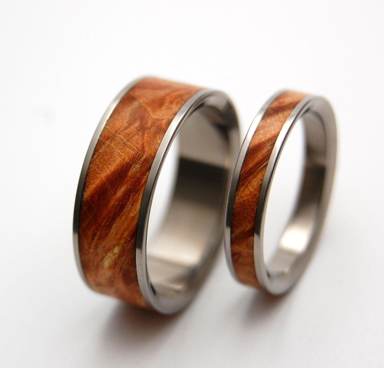 wedding rings titanium rings wood rings wood mens wedding bands wood rings mens rings Titanium Wedding Bands zoom