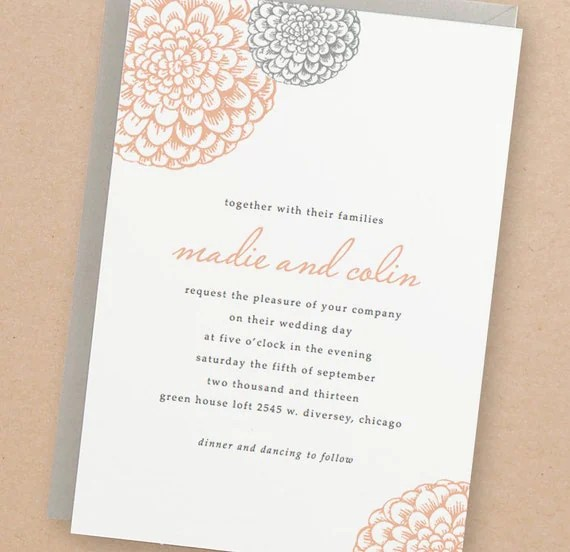 Printable Wedding Invitation Template INSTANT DOWNLOAD - free printable wedding invitation templates for word