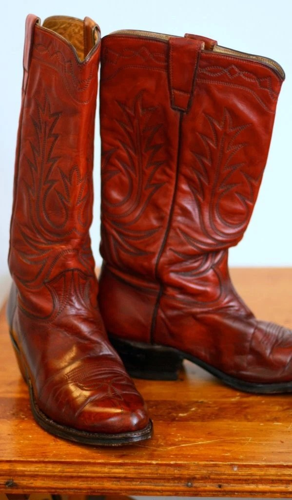 Ruby Red Men39s Vintage Cowboy Boots