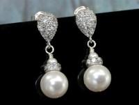 Drop Pearl Earrings Stud Earring Bridal Wedding Jewelry
