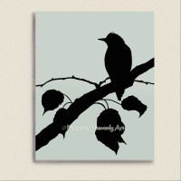 8 x 10 Bird on Branches Home Wall Decor Pale by ...